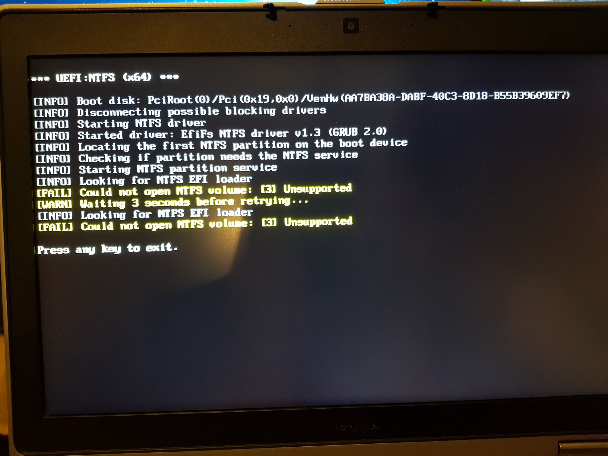 surface pro 2 usb boot ntfs