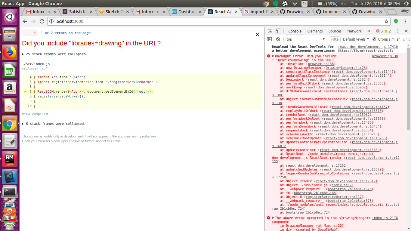 DrawingManager   Not working in react-google-maps^9 4 5