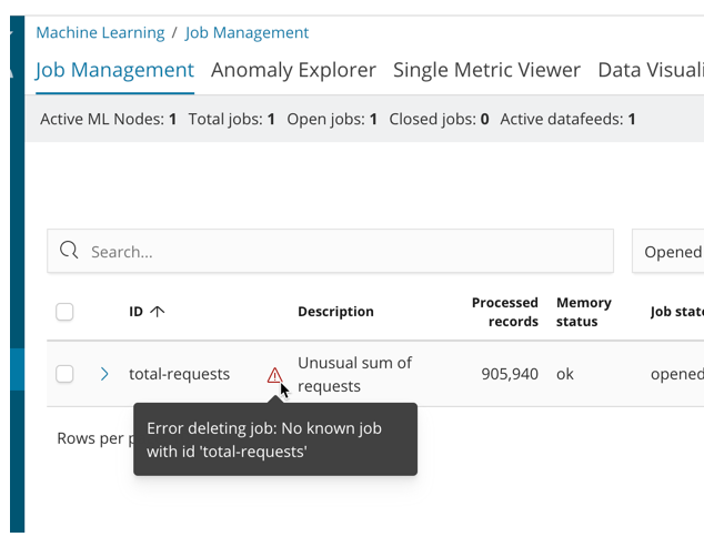 ML] Audit Messages are logged deleting a missing job · Issue