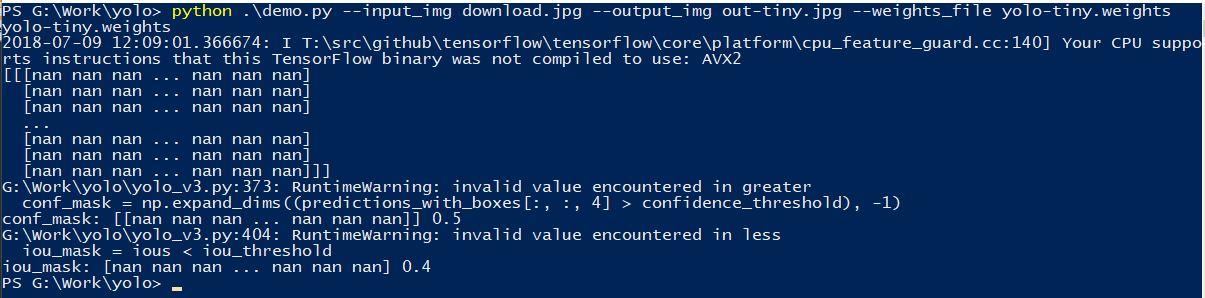 yolo-v3-tiny does not give any prediction · Issue #12 · mystic123