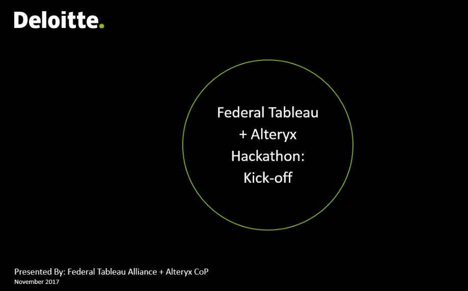 GitHub - mrkem598/Deloitte_Federal_Tableau_Alteryx_Hackathon: The