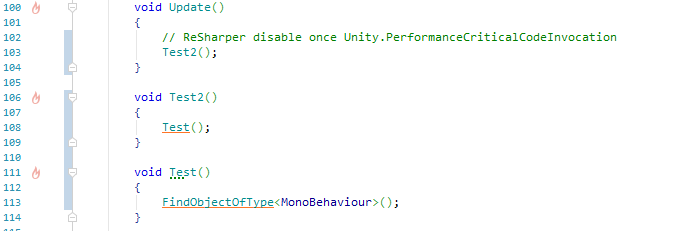 Add custom attribute to mark method as not-frequently-called