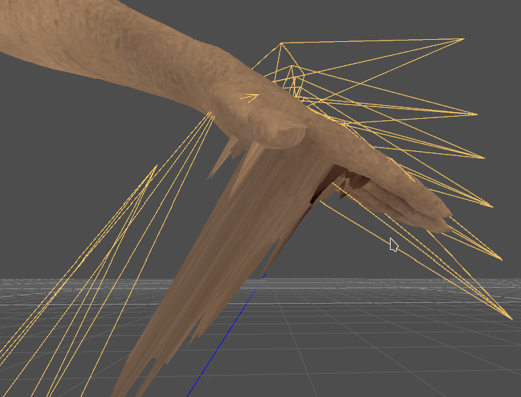 Rigged mesh looks deformed when imported to Godot · Issue #37
