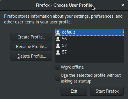 Can't run with specified profile name and --keep-profile