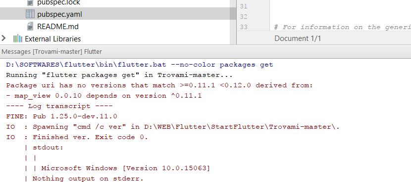 pubspec yaml: get errors when run cmd: flutter packages get · Issue