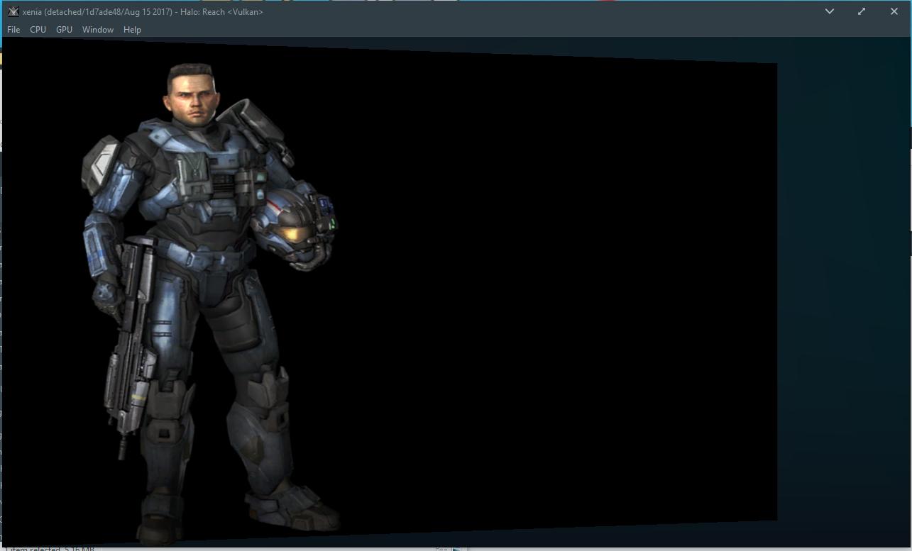 Xenia - Halo Reach now gets into menus : emulation