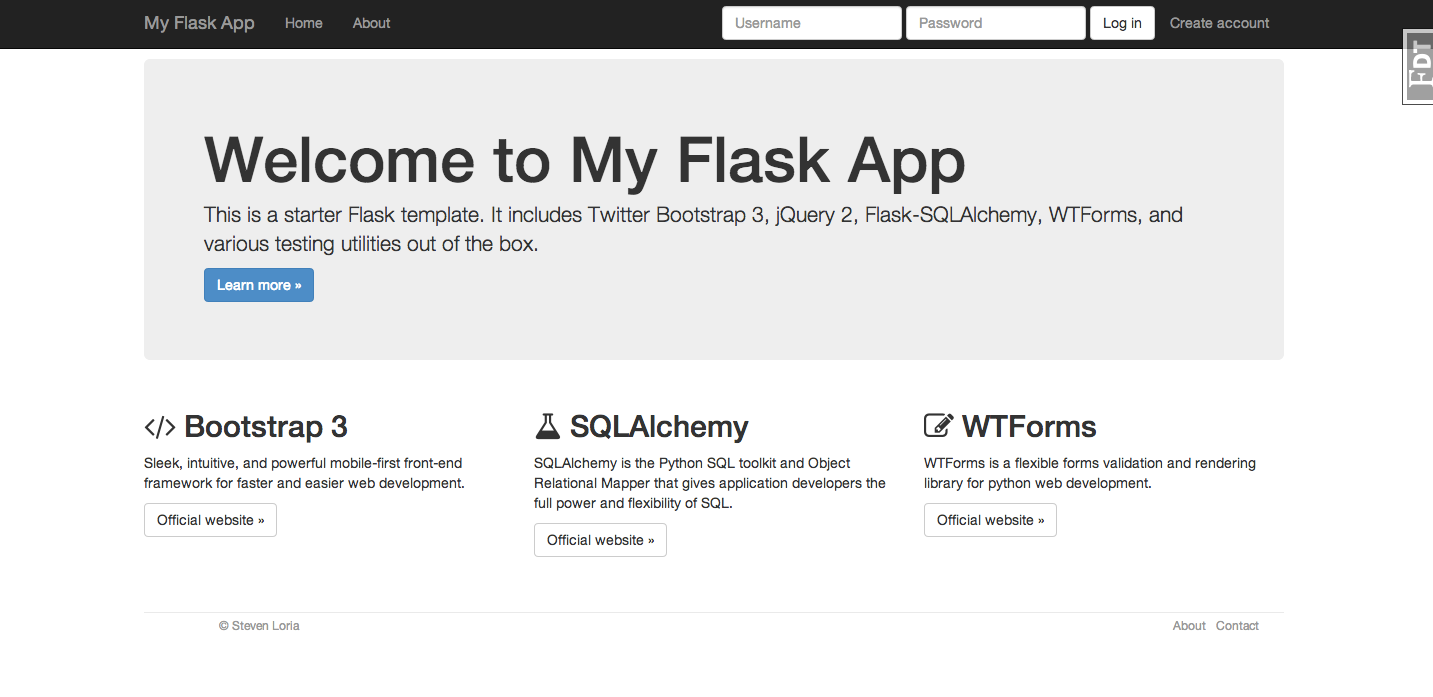 GitHub - sloria/cookiecutter-flask: A flask template with Bootstrap ...