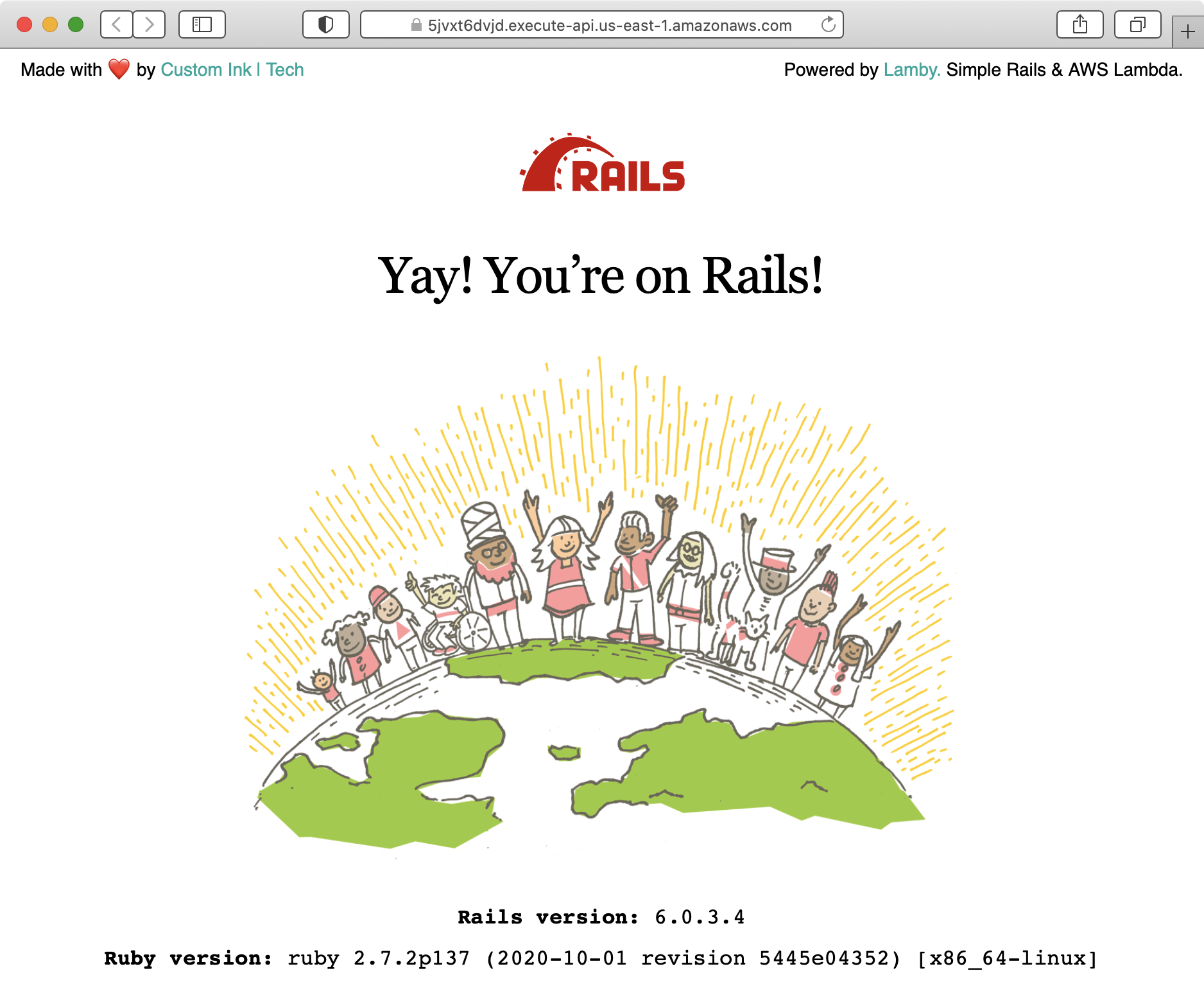 Yay! You're on Rails with AWS Lambda Containers