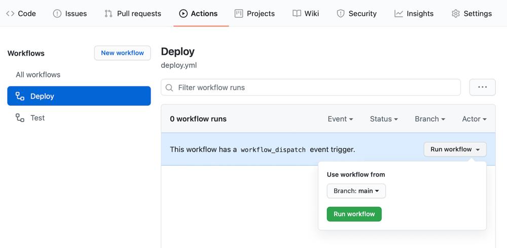 Lambda & Rails deploy with GitHub Actions