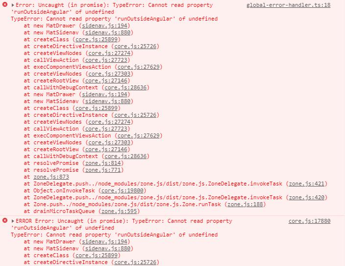 Mat Sidenav - TypeError: Cannot read property