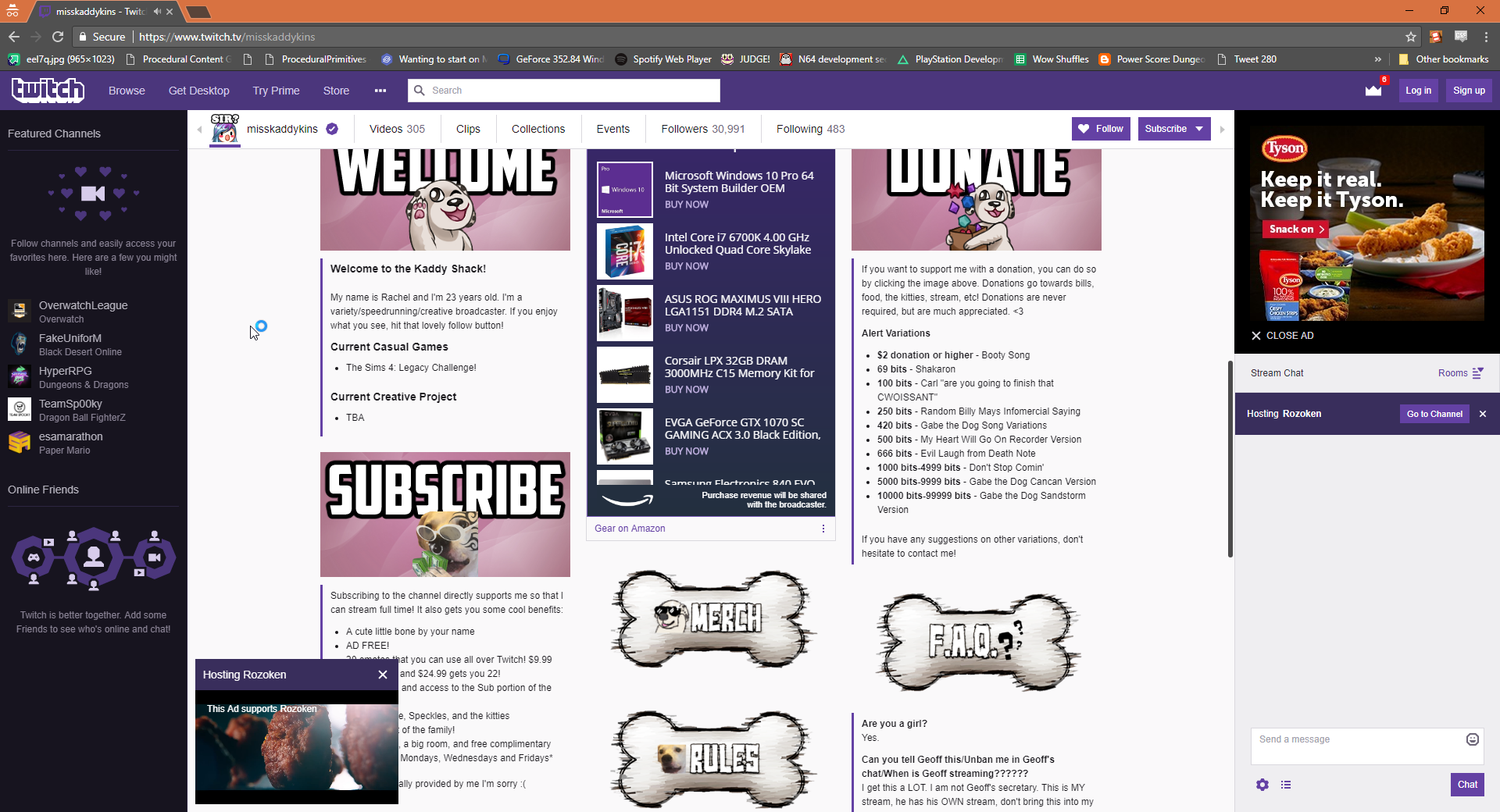 Twitch Panels on page get cutoff by chat · Issue #383