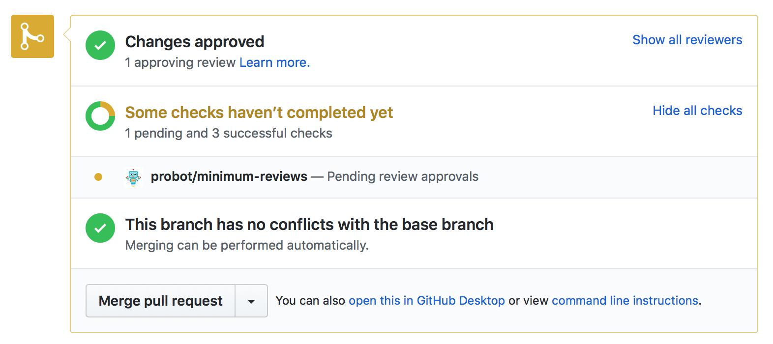Screenshot of Minimum reviews app