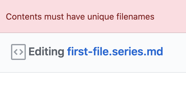 unique filenames error