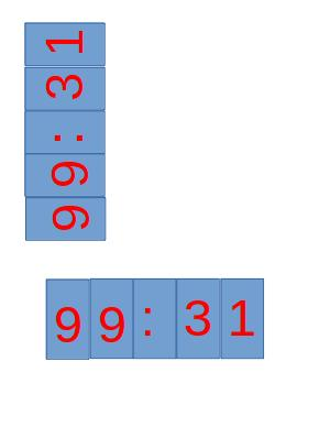 How to print rotated number, 90 counter clockwise · Issue