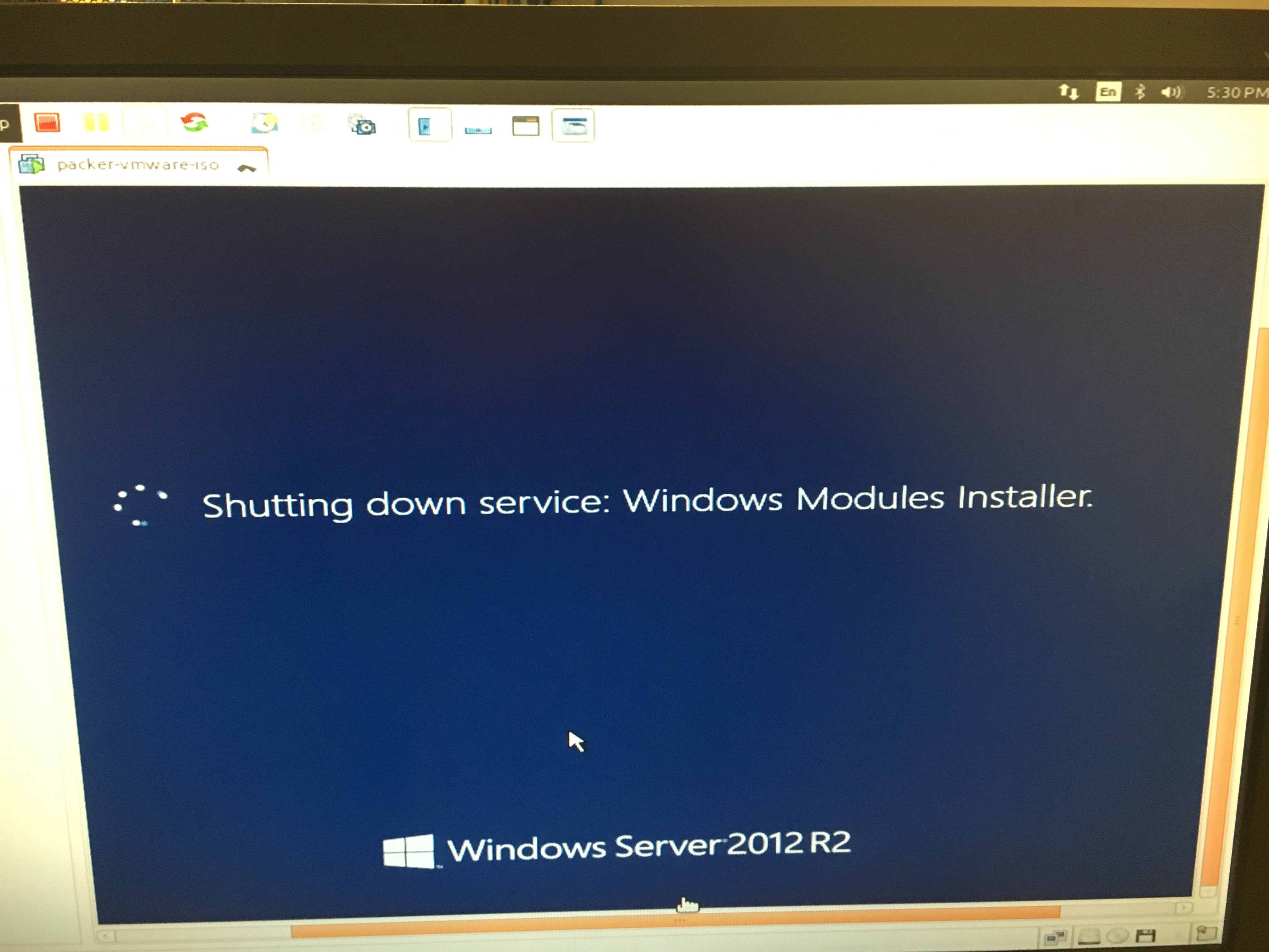 Windows builds on VMWare Workstation failing on 1 1 2