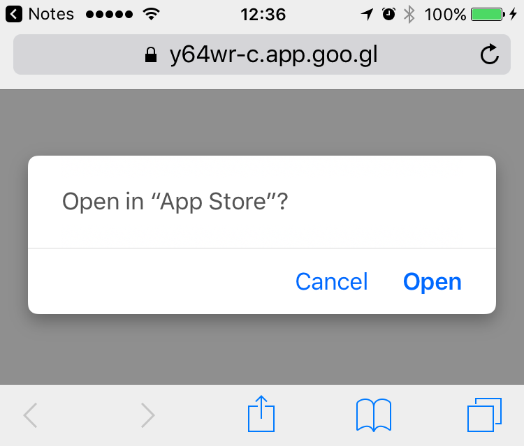 Firebase dynamic link always goes to app store URL even if