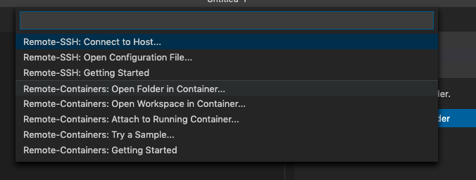 Remote Container - Open In Folder