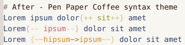 After - Pen Paper Coffee syntax theme