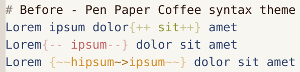 Before - Pen Paper Coffee syntax theme