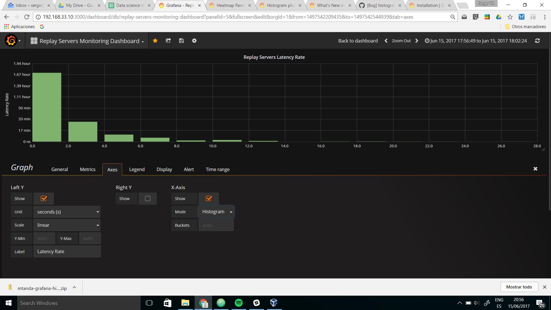 Bug] histogram in graph panel · Issue #8628 · grafana/grafana · GitHub