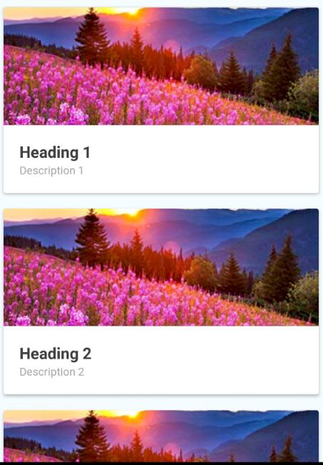 Android CardList