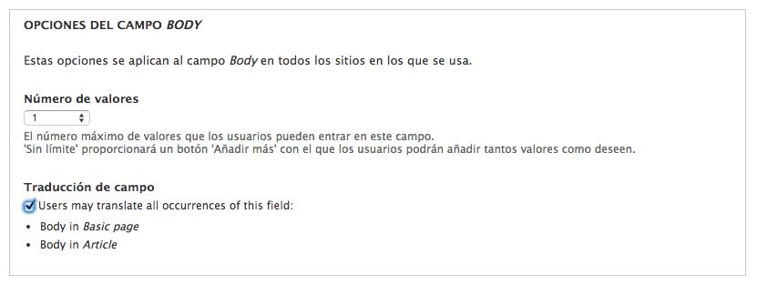 habilitar traduccion de campos