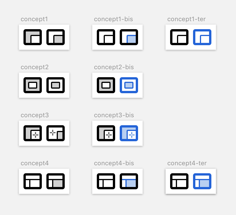 4 frame-picker icon design concepts