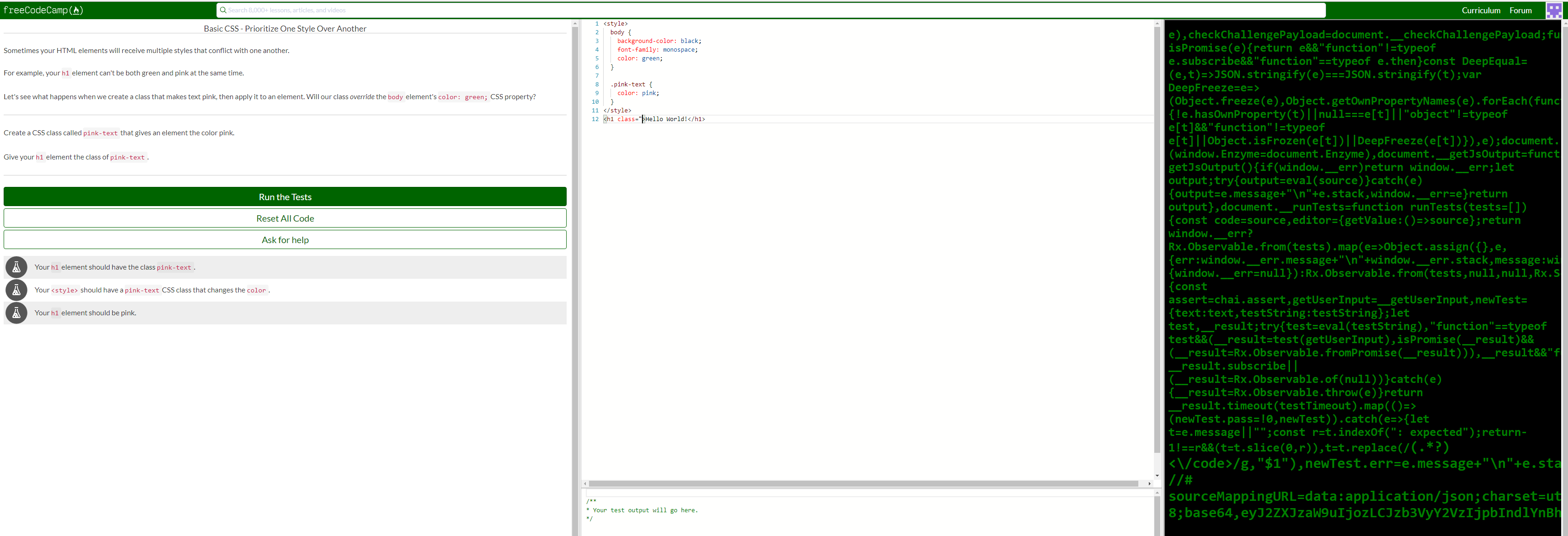 Javascript displayed in HTML output frame when editing HTML · Issue ...