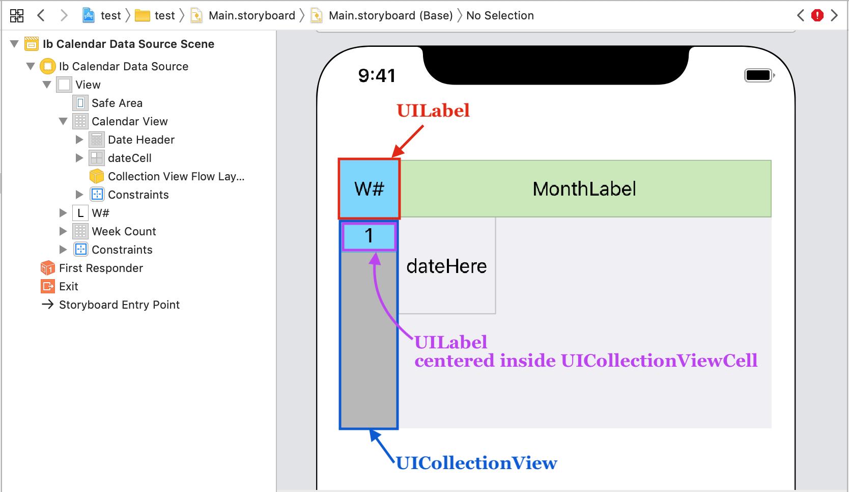 Implementing week numbers – JTAppleCalendar Tutorials and