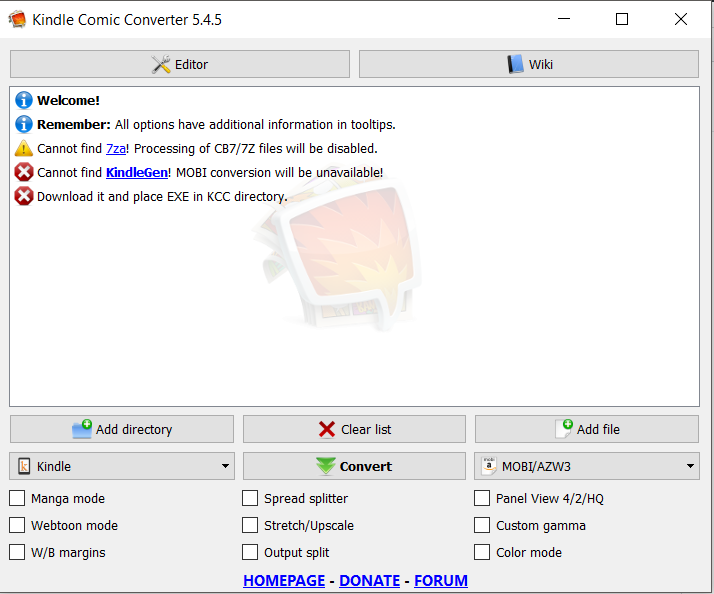 KCC don\u0027t see exe files in it\u0027s directory · Issue #282 · ciromattia
