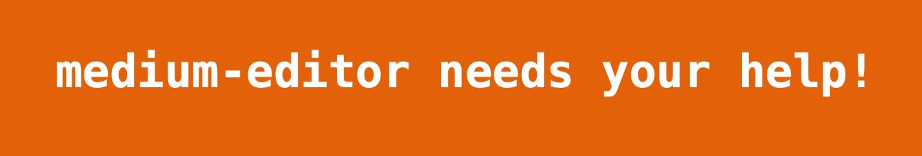 medium-editor needs help!