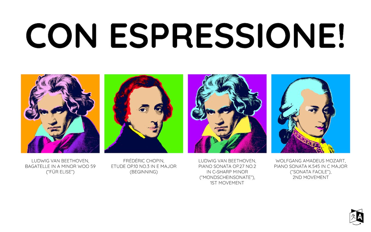 Screenshot of the Con Espressione! menu