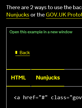 back links high contrast gov uk