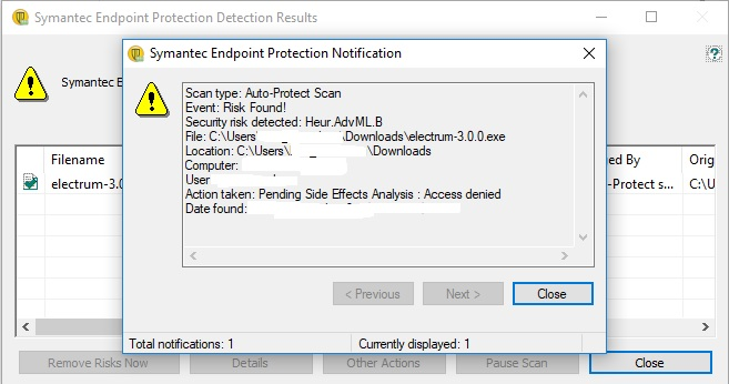 Electrum binaries flagged by some antivirus (false positive) · Issue