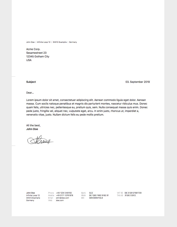 Letter Screenshot