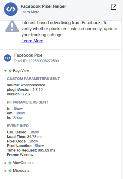 Custom Audience Errors using Facebook Pixel · Issue #242