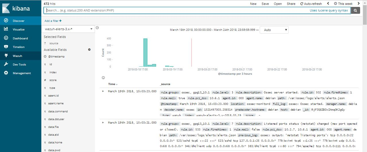 Kibana Log's date different with Ossec-log when it local