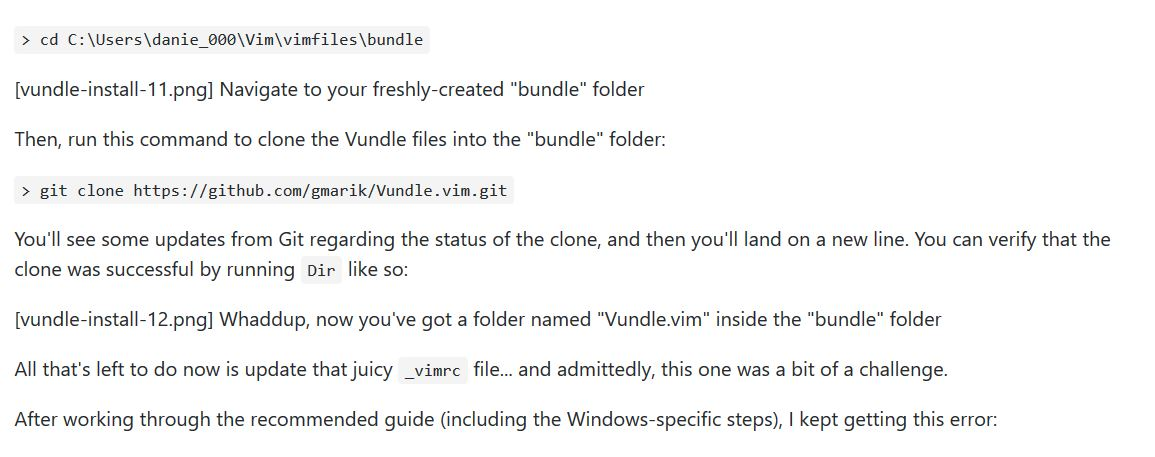 This is a Windows-specific walkthrough for installing Vim