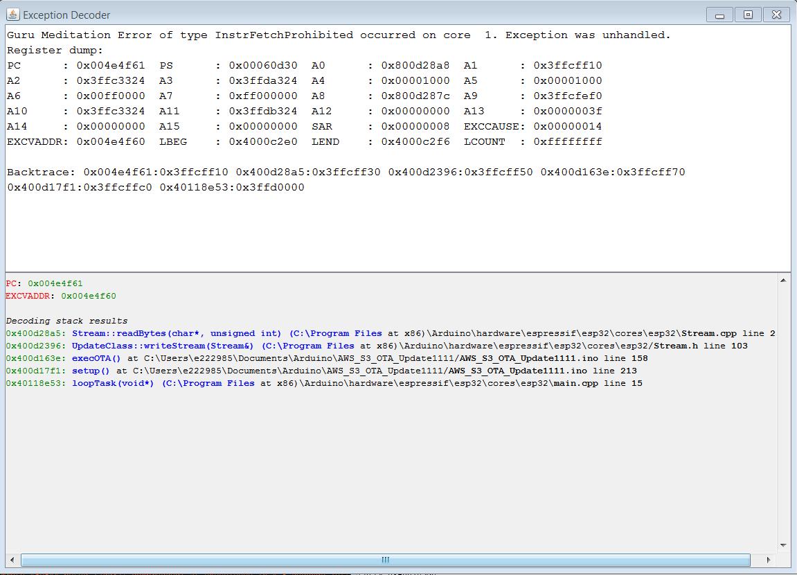 OTA Update not working - stackoverflow! · Issue #1359