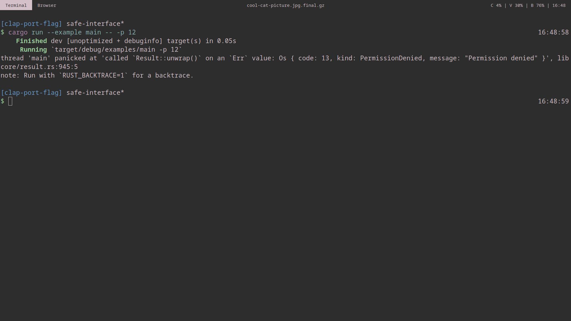 Improve error handling on bad port · Issue #5 · rust-cli