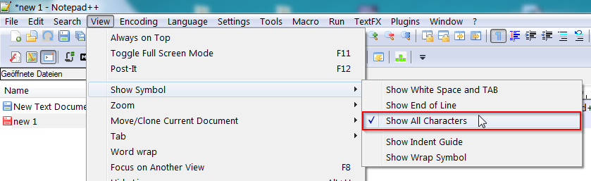 Clipboard text is not pasted correctly into Notepad++ when