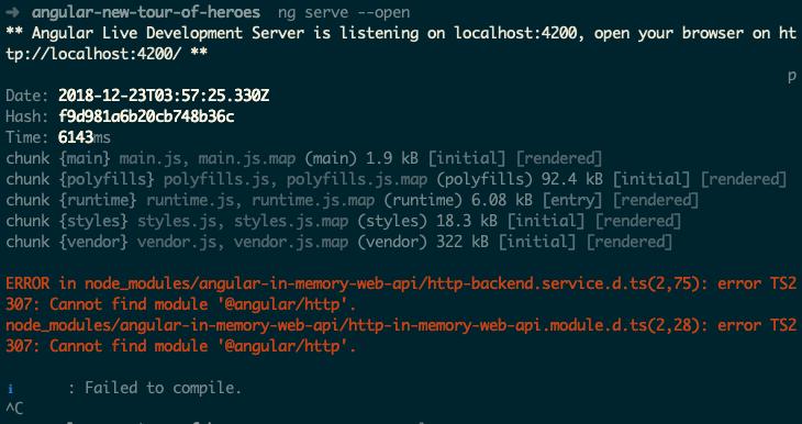 Module not found: Error: Can't resolve '@angular/http' in