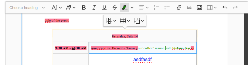 The insert image button is enabled in table · Issue #225