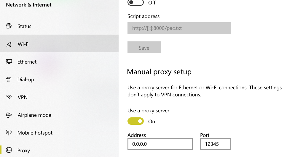 Failed to connect to registry on the remote when the