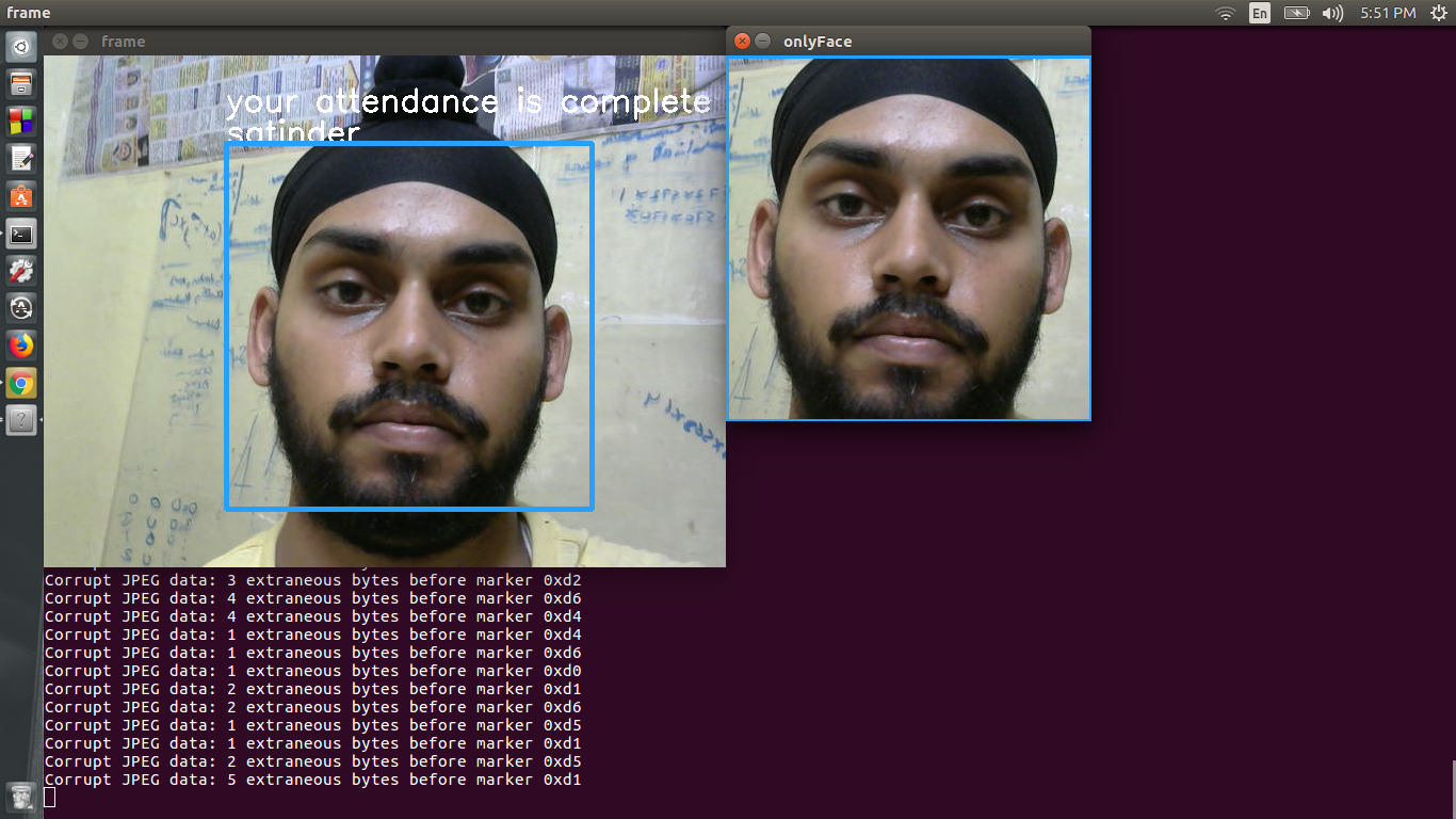 GitHub - satinder147/Attendance-using-Face: Face-recognition