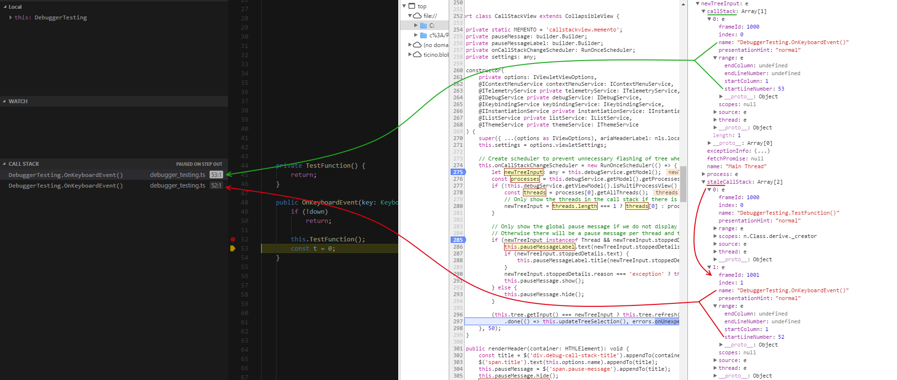 The Green Shows Stack Frame I Expect To Be On Callstack Red Stale Keep Getting Left With