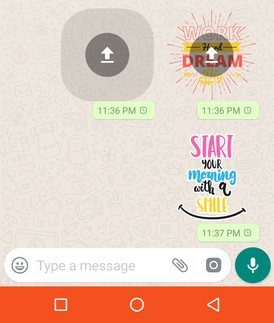 Android]Stickers stuck at sending · Issue #305 · WhatsApp