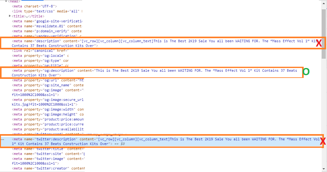 WPBakery Row Module Shortcodes Appearing in Snippet Preview when