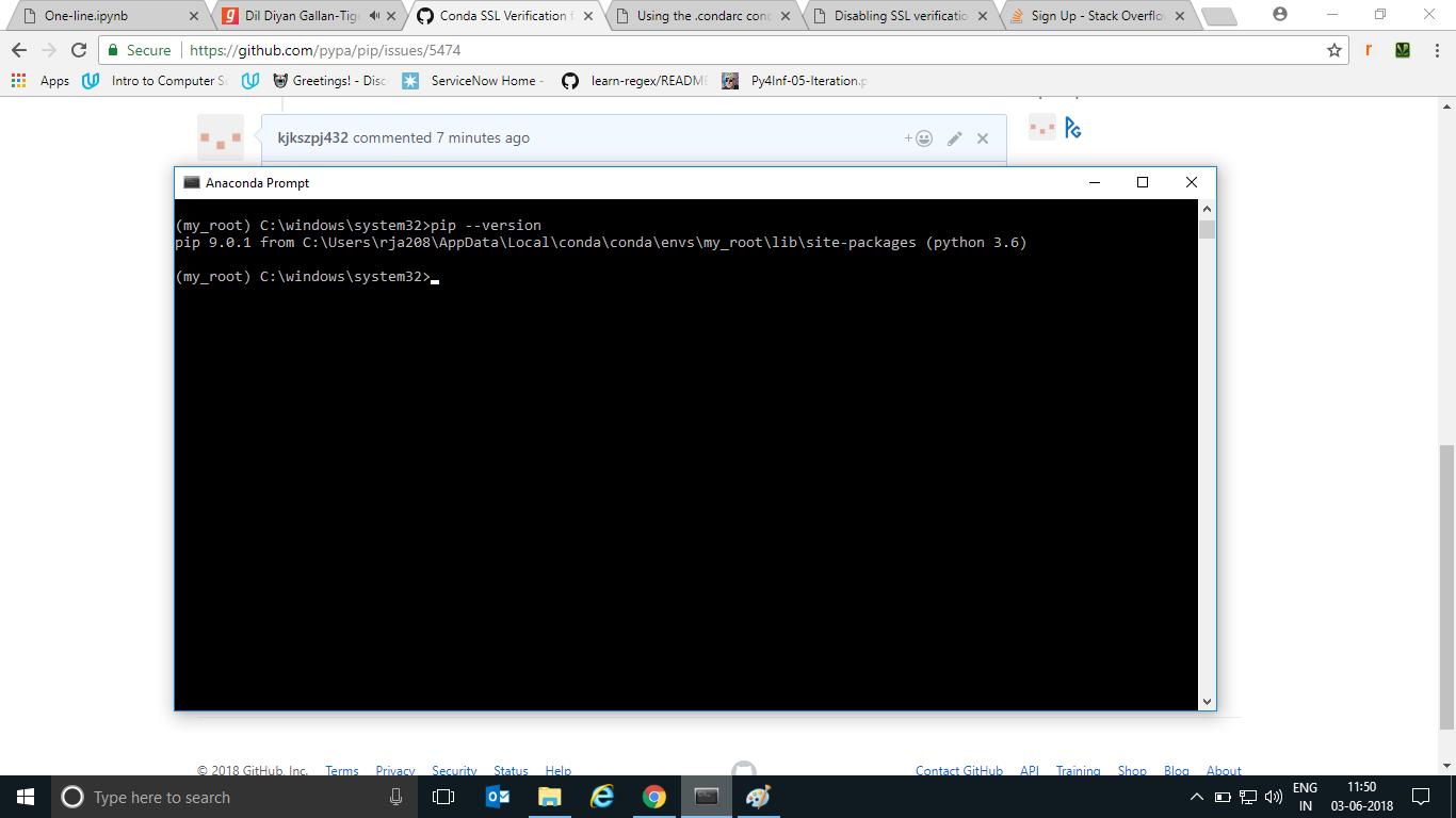 Conda SSL Verification failed · Issue #5474 · pypa/pip · GitHub