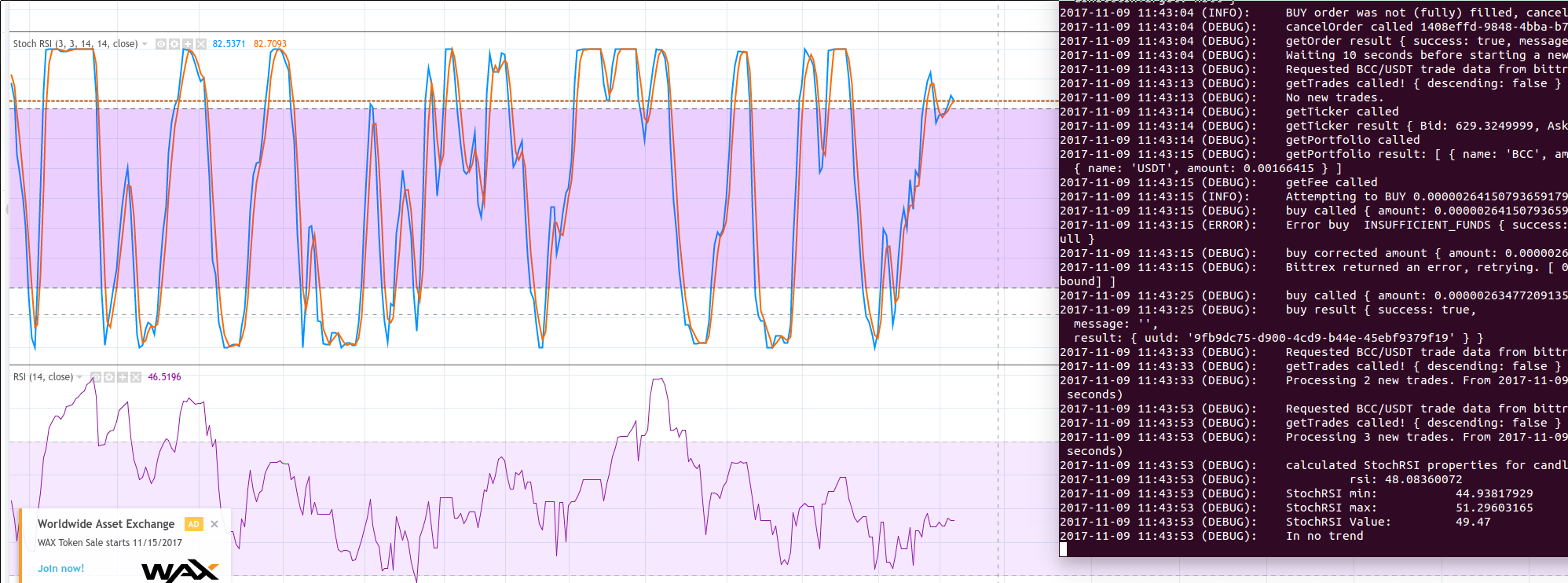RSI value is different then the RSI value on the exchange · Issue